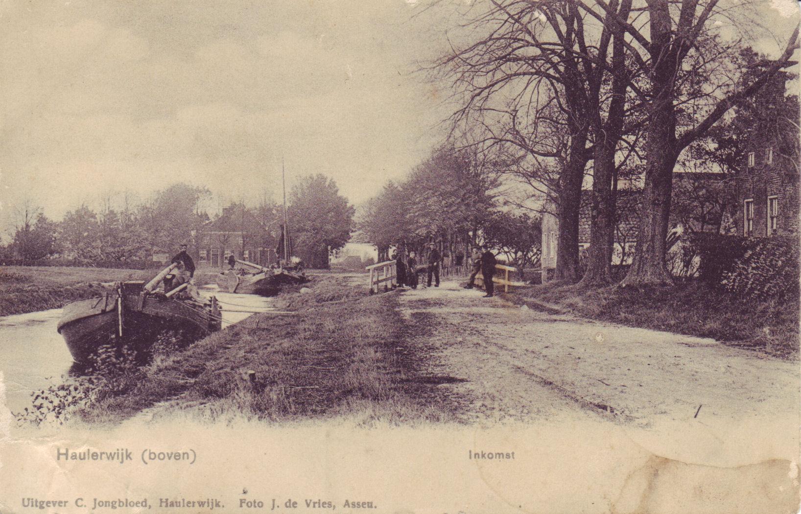 """1910 """"De Kromme Elleboog"""" houten bruggetje """"Kromme Elleboogswijk"""""""