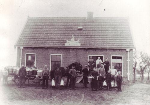 coöperatieve boterfabriek Eendracht Haulerwijk.