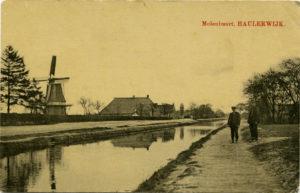 molenbuurt molen gebroeders vd Wal. Kerkstraat - vaart - Hoofdweg Boven