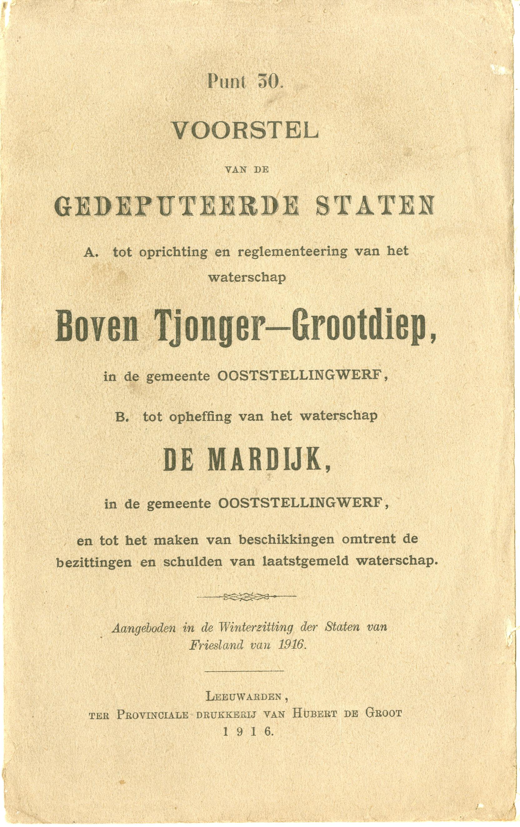 22-03-1916 Boven Tjonger-Gootdiep