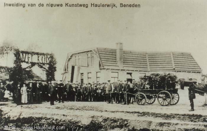 Inwijding Kunstweg Haulerwijk-beneden.