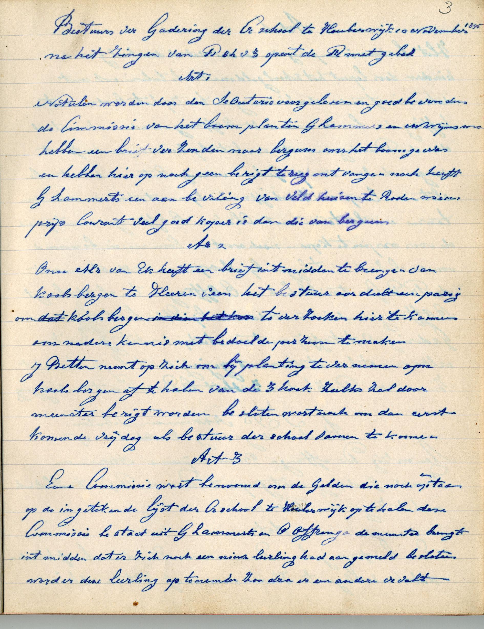 Oudste Notulenboek 1896 1902