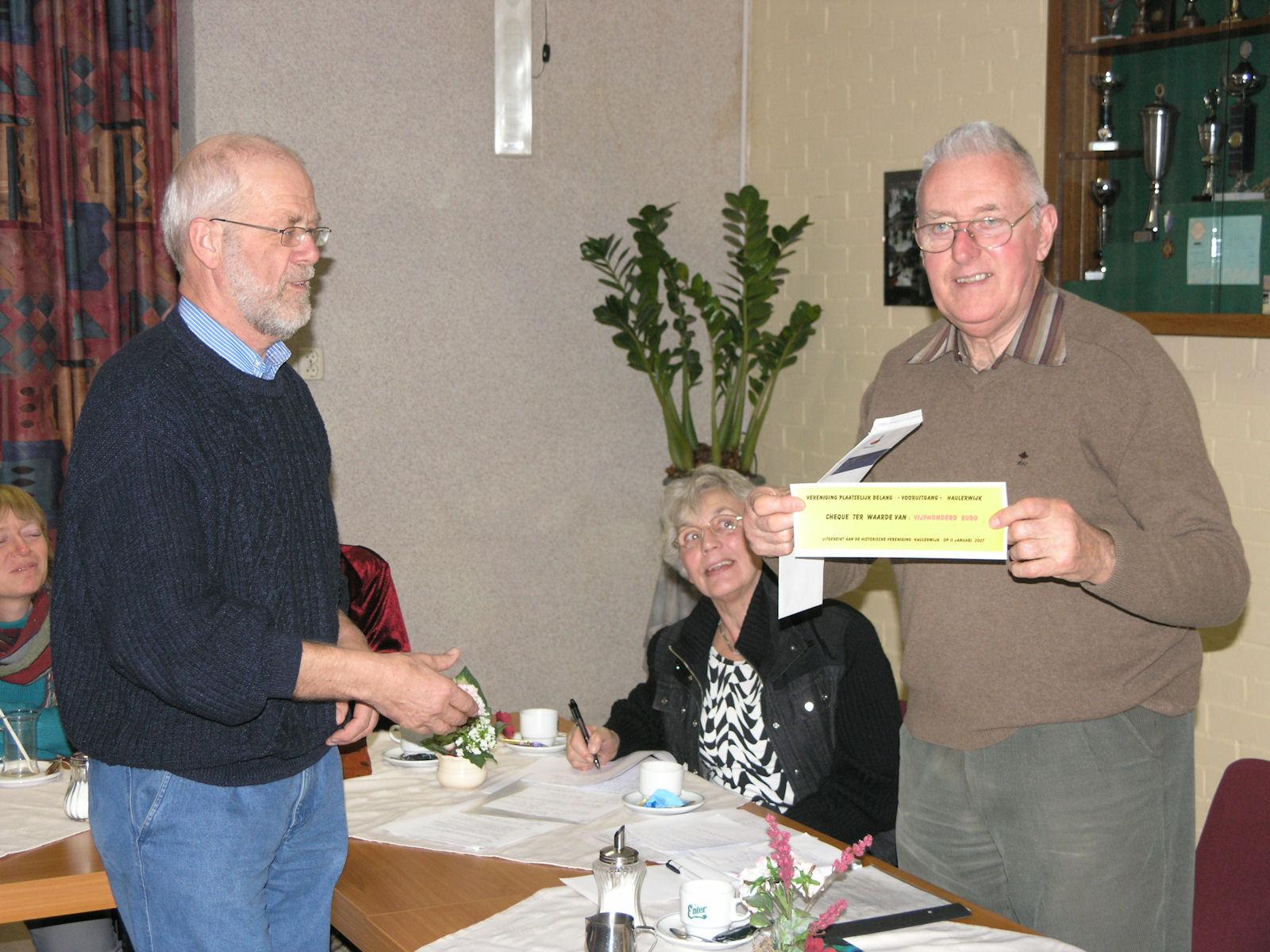 11-1-2007 Oprichting historische vereniging.