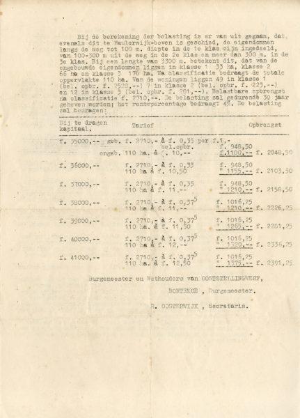 18-09-1951 Verbetering weg zuidkant vaart 2.