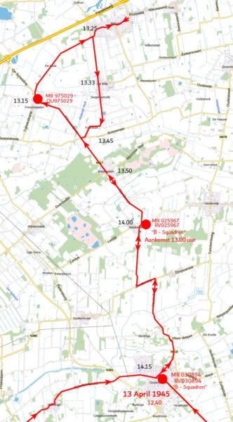 Route naar Bakkeveen